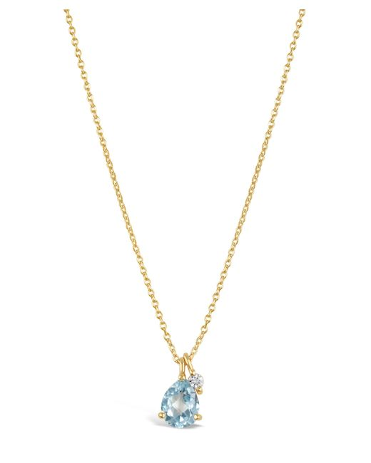 Dinny Hall - Metallic Gold-plated Gem Drops Sky Blue Topaz Pendant Necklace - Lyst