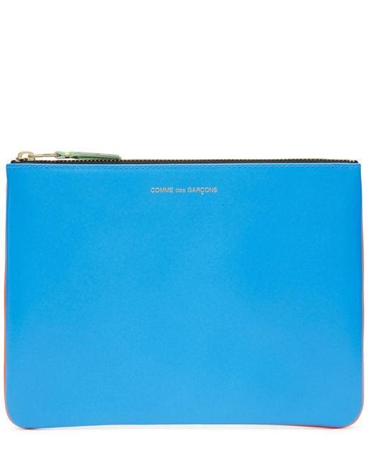 Comme des Garçons | Orange Super Fluoro Medium Leather Zip Pouch | Lyst