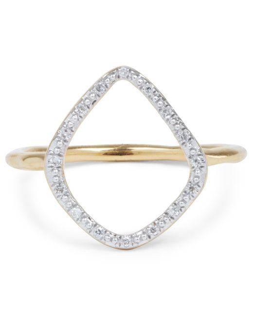 Monica Vinader - Metallic Gold Vermeil Diamond Riva Hoop Ring - Lyst