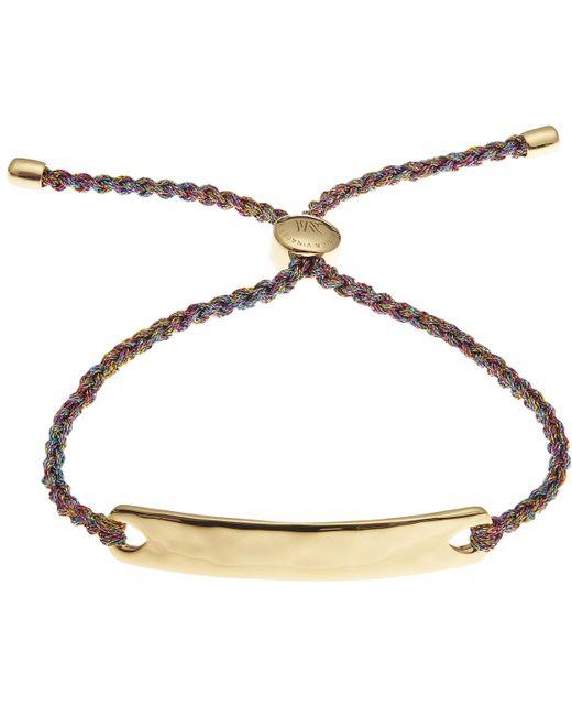 Monica Vinader | Gold-plated Havana Metallica Cord Friendship Bracelet | Lyst
