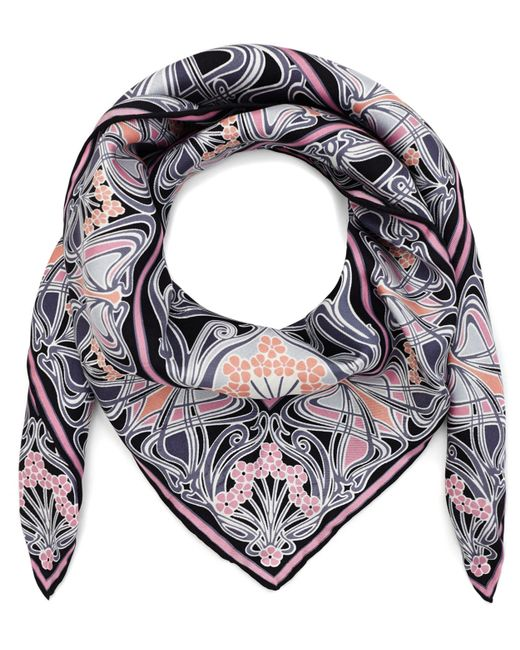 Liberty - Black New Ianthe 70x70 Silk Scarf - Lyst