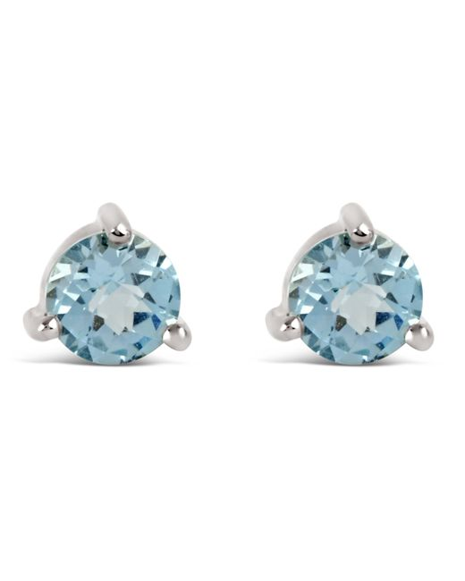 Dinny Hall - Metallic Silver Gem Drops Sky Blue Topaz Round Stud Earrings - Lyst