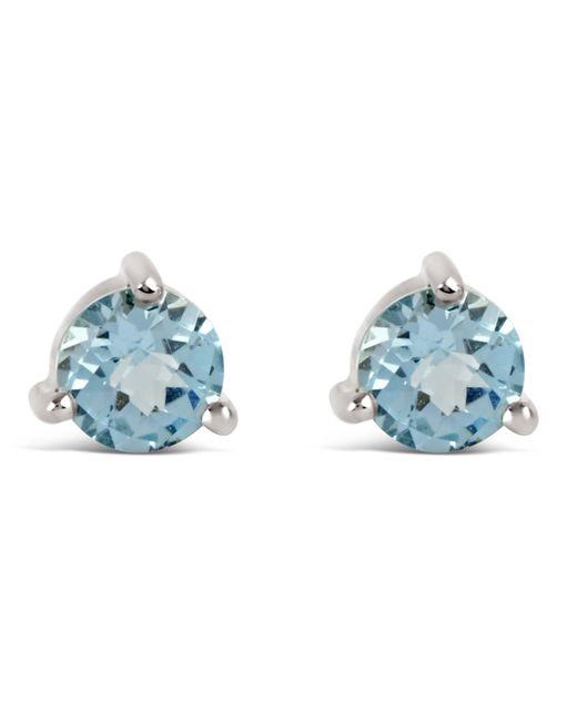 Dinny Hall | Metallic Silver Gem Drops Sky Blue Topaz Round Stud Earrings | Lyst