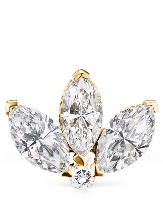 a517fd050 ... Maria Tash - Metallic 3mm Mini Diamond Engraved Lotus Threaded Stud  Earring - Lyst