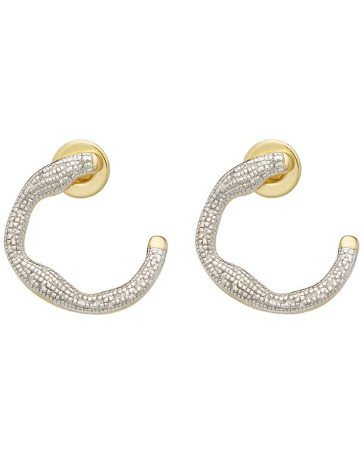 Monica Vinader - Metallic Gold-plated Riva Diamond Circle Wrap Earrings - Lyst