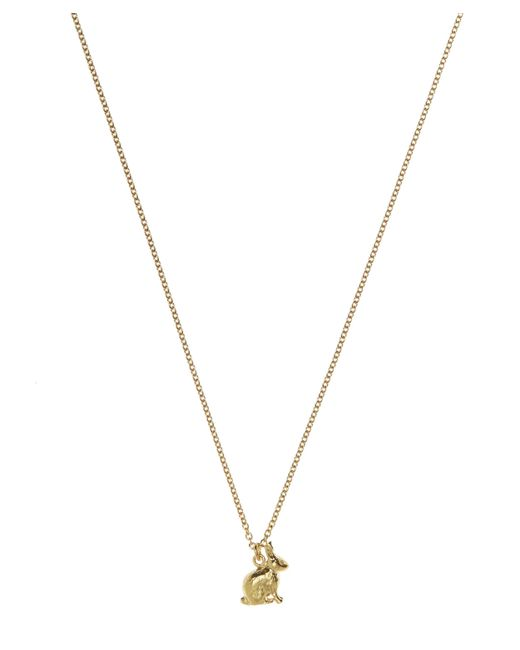 Alex Monroe - Metallic Gold-plated Sitting Bunny Necklace - Lyst
