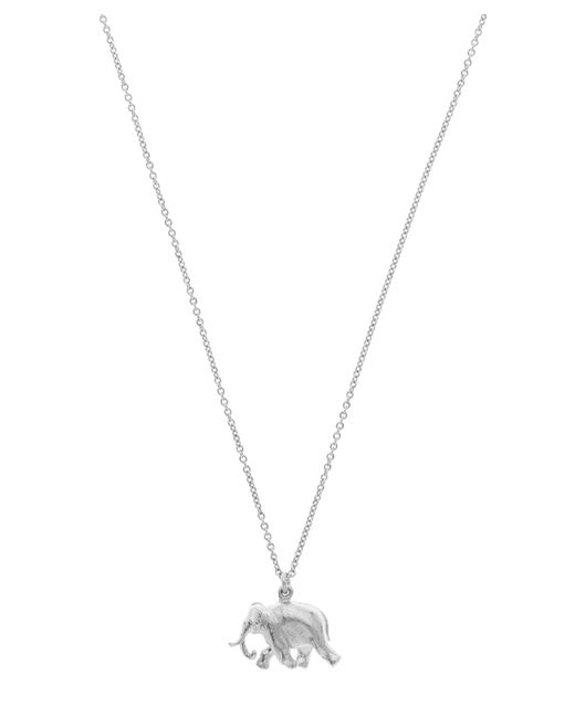 Alex Monroe - Metallic Sterling Silver Indian Elephant Pendant Necklace - Lyst