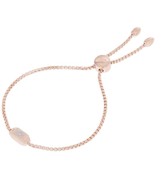 Monica Vinader - Metallic Rose Gold-plated Baja Deco Diamond Bracelet - Lyst