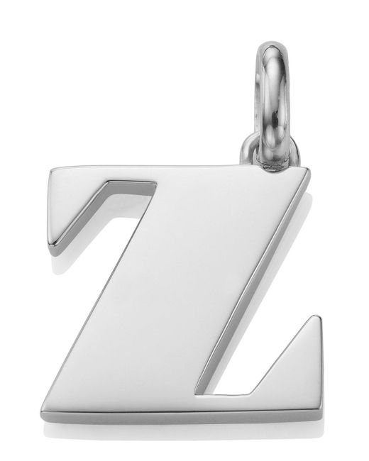Monica Vinader - Metallic Silver Alphabet Pendant Z - Lyst