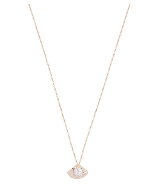 Kismet by Milka - Metallic Gold Orbit White Diamond Hammered Pendant Necklace - Lyst