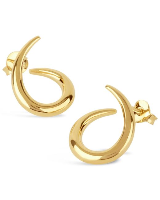 Dinny Hall - Metallic Medium Gold-plated Toro Twist Stud Earrings - Lyst