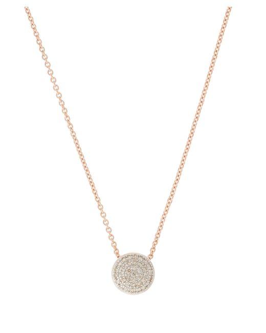 Monica Vinader - Multicolor Rose Gold Vermeil Diamond Ava Button Necklace - Lyst