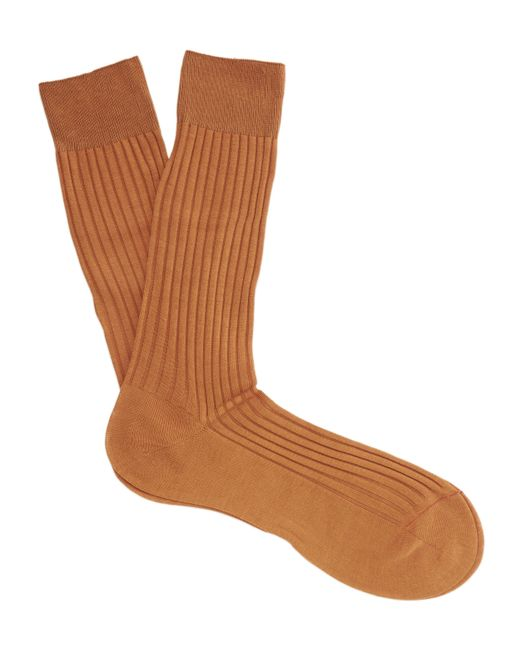 Pantherella - Orange Danvers Ribbed Socks for Men - Lyst