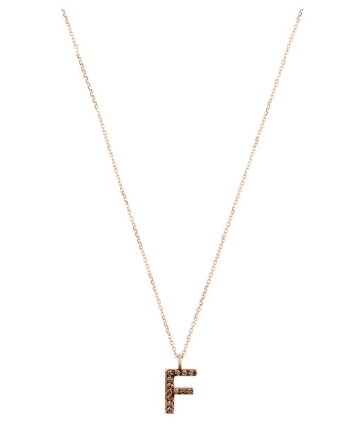 KC Designs - Metallic Yellow Gold Champagne Diamond Letter F Necklace - Lyst