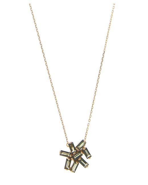 Suzanne Kalan | Metallic Gold Small Firework Green Topaz Cluster Necklace | Lyst