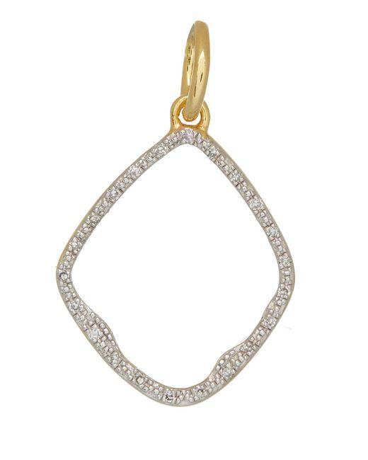 Monica Vinader | Metallic Gold Vermeil Diamond Riva Hoop Pendant | Lyst
