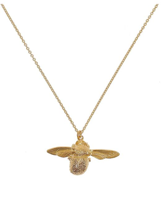 Alex Monroe | Metallic Gold-plated Bumblebee Necklace | Lyst