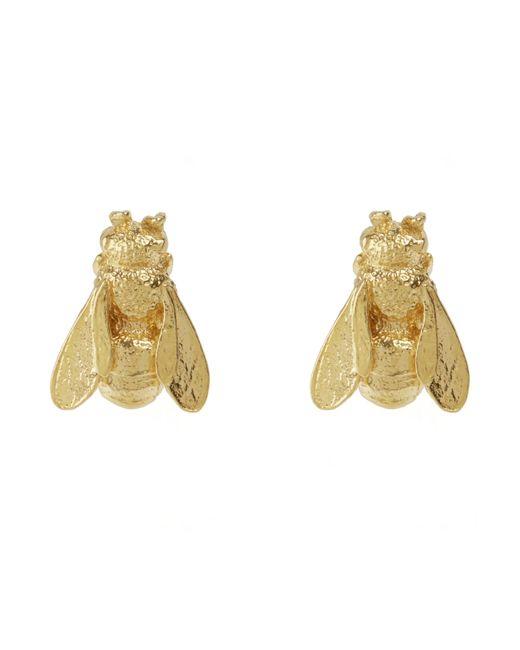 Alex Monroe - Metallic Gold-plated Honey Bee Stud Earrings - Lyst