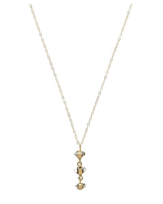 Melissa Joy Manning - Metallic Gold Herkimer Diamond Three Drop Necklace - Lyst