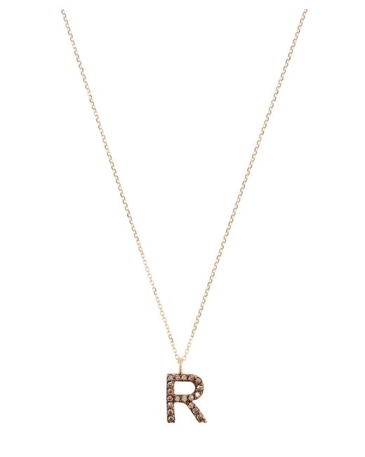 KC Designs - Metallic Yellow Gold Champagne Diamond Letter R Necklace - Lyst