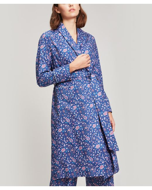 Liberty - Blue Garden Gates Long Cotton Robe - Lyst