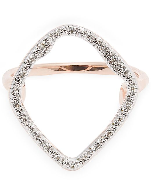 Monica Vinader - Metallic Rose Gold-plated Riva Hoop Diamond Cocktail Ring - Lyst