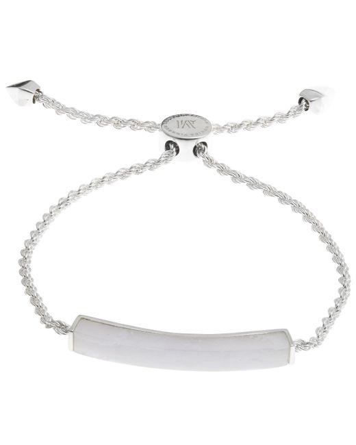Monica Vinader | Metallic Silver Linear Blue Lace Agate Stone Bracelet | Lyst