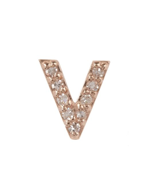 KC Designs - Multicolor Diamond V Single Stud Earring - Lyst
