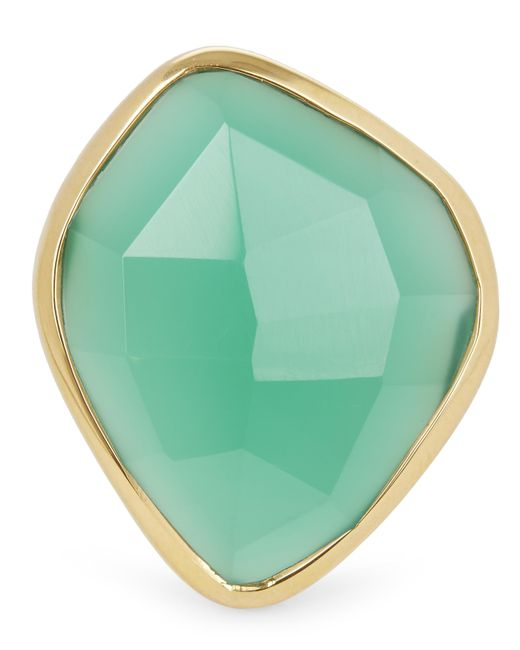 Monica Vinader | Metallic Gold-plated Green Onyx Siren Nugget Cocktail Ring | Lyst