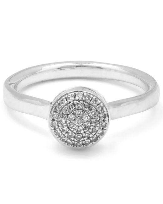 Monica Vinader - Metallic Silver Diamond Ava Button Ring - Lyst