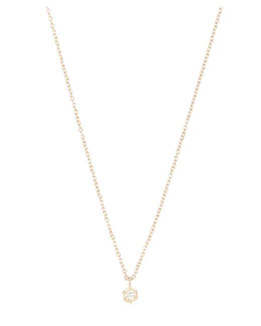 Satomi Kawakita   Metallic Gold Baby Hexagon White Diamond Necklace   Lyst