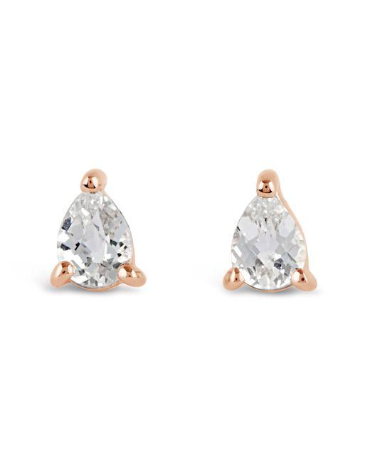 Dinny Hall - Metallic Rose Gold-plated Gem Drops White Topaz Pear Stud Earrings - Lyst