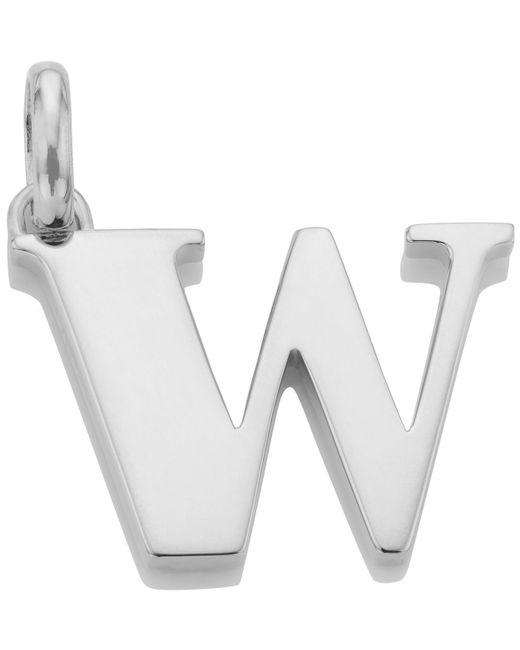 Monica Vinader | Metallic Silver Alphabet Pendant W | Lyst