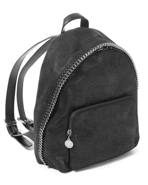 stella mccartney mini falabella zip around rucksack in black save 25 lyst. Black Bedroom Furniture Sets. Home Design Ideas