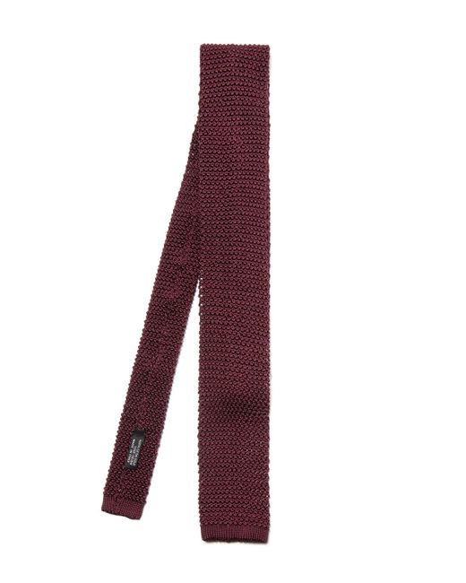 Nick Bronson | Purple Plain Knit Silk Tie for Men | Lyst