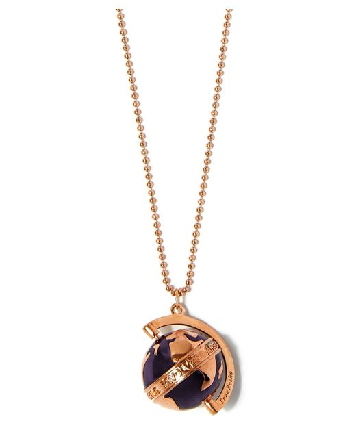 True Rocks | Multicolor Medium Rose Gold-plated Spinning Globe Necklace | Lyst