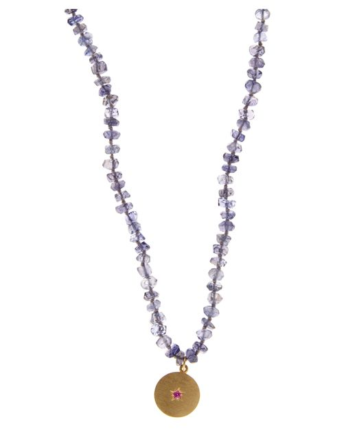 Andrea Fohrman | Metallic Iolite Bead Crescent Moon Necklace | Lyst