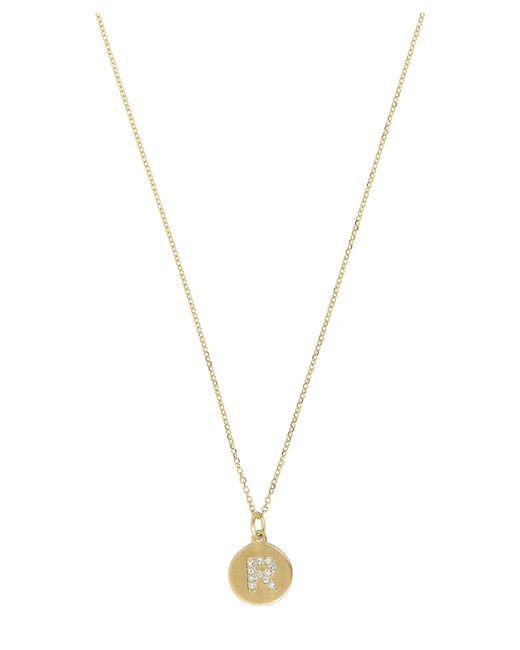 KC Designs - Metallic Gold And Diamond Letter R Disc Pendant Necklace - Lyst