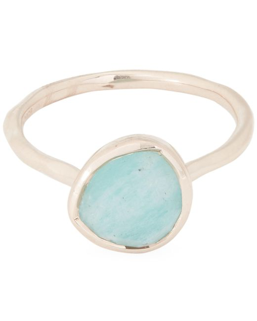 Monica Vinader - Multicolor Rose Gold Vermeil Siren Amazonite Stacking Ring - Lyst