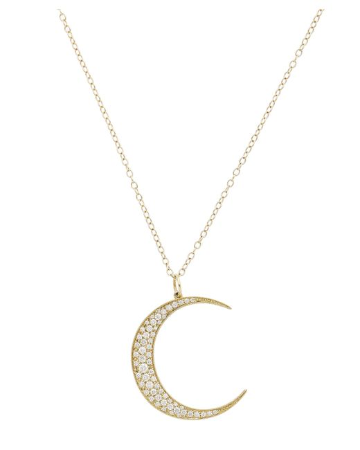 Andrea Fohrman | Metallic Gold Luna White Diamond Pendant Necklace | Lyst