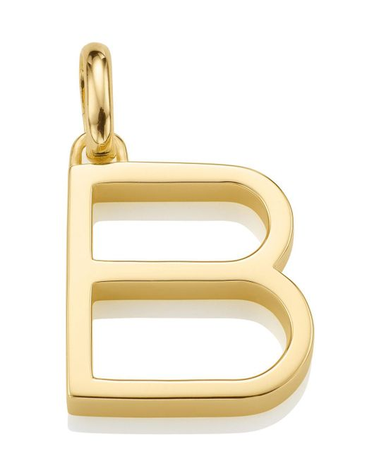 Monica Vinader - Metallic Gold-plated Alphabet Pendant B - Lyst