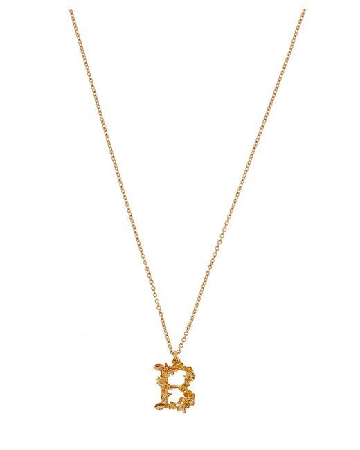 Alex Monroe - Metallic Gold-plated Floral Letter B Alphabet Necklace - Lyst