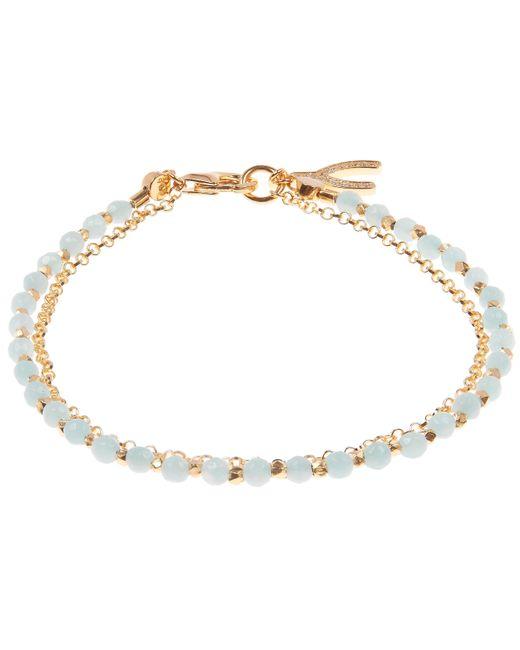 Astley Clarke - Metallic Gold-plated Amazonite Wishbone Biography Bracelet - Lyst