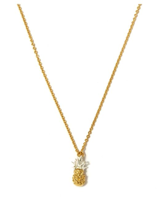 Alex Monroe - Metallic Gold Plated Baby Pineapple Necklace - Lyst