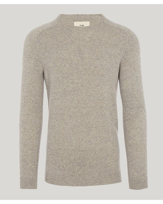 Folk - Gray Patrice Wool Raglan Sleeve Jumper for Men - Lyst