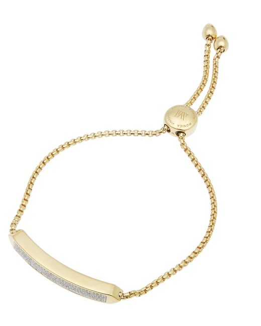 Monica Vinader - Metallic Gold-plated Baja Skinny Diamond Bracelet - Lyst