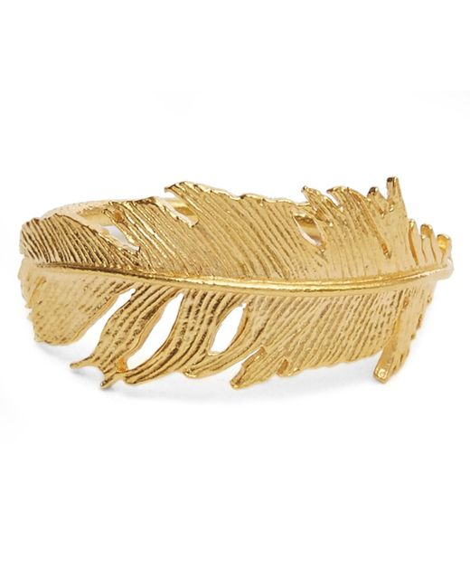 Alex Monroe   Metallic Gold Wrapped Feather Ring   Lyst