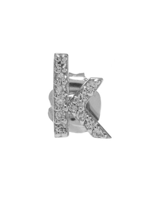 KC Designs - White Rose Gold Diamond K Single Stud Earring - Lyst