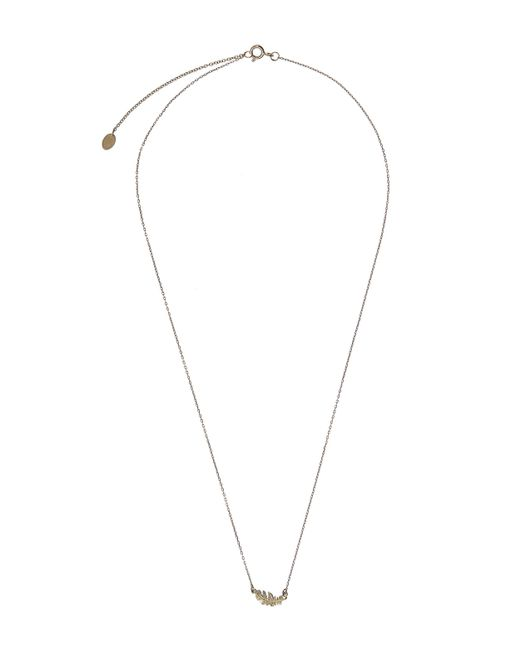 Alex Monroe | Metallic Gold In-line Plume Necklace | Lyst