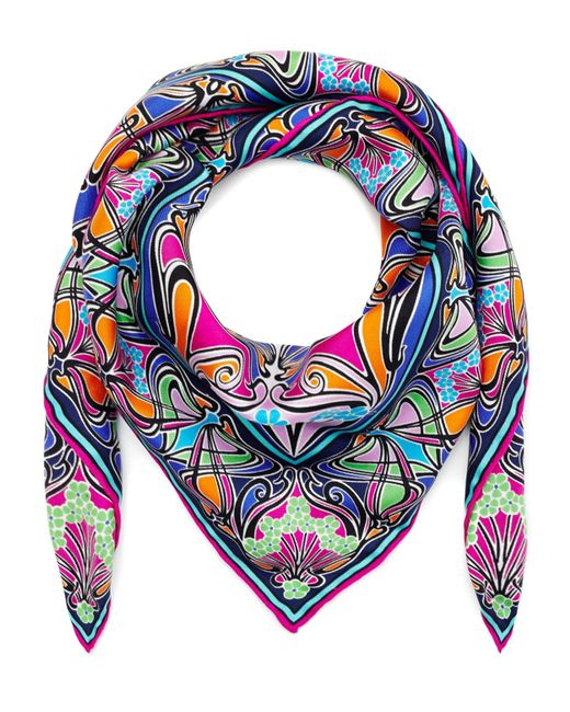 Liberty - Pink New Ianthe 70x70 Silk Scarf - Lyst